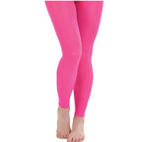Adult Neon Pink Footless Tights