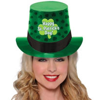 St. Patricks Day Clover Top Hat
