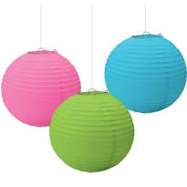 Multicolor Paper Lanterns 9 1/2in 3ct