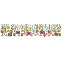 Mardi Gras Icons Swirl Decorations 30ct
