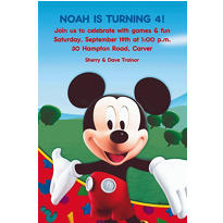 Mickey's Clubhouse Custom Invitation