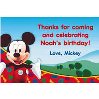 Mickey Mouse Clubhouse Custom Thank You Note