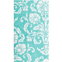 Blue Robin Egg Damask Hand Towels 16ct