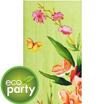 Eco-Friendly Pink Bloom Guest Towels 16ct