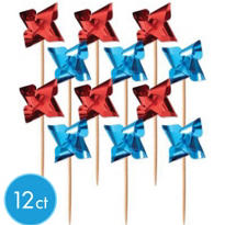 Patriotic Pinwheel Picks 12ct