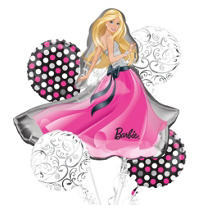 Barbie Glamour Balloon Bouquet 5pc