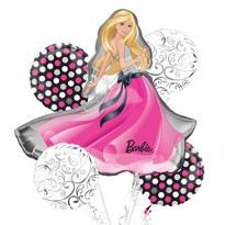 Barbie Balloon Bouquet 5pc - Glamour