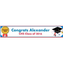 Diploma Custom Graduation Banner 6ft