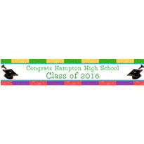Way to Go Grad Custom Graduation Banner 6ft
