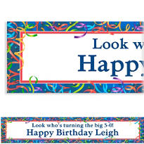 Custom Celebration Streamers Birthday Banner 6ft