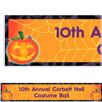 Playful Pumpkin Halloween Custom Banner