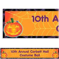 Playful Pumpkin Halloween Custom Banner