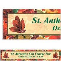 Elegant Leaves Custom Banner 6ft