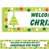 Holiday Buzz 1 Custom Christmas Banner
