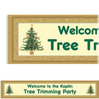 Victorian Tree Custom Christmas Banner