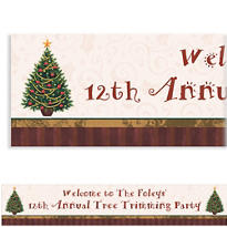Twinkling Tree Custom Christmas Banner