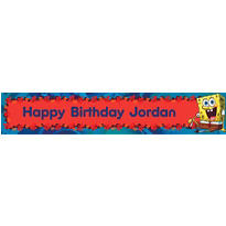 SpongeBob Simply Custom Birthday Banner 6ft