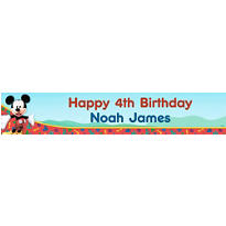 Mickey Mouse Clubhouse Custom Birthday Banner 6ft