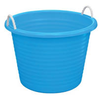 Blue Plastic Tub with Rope Handles
