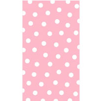 Pastel Pink Polka Dot Hand Towels 16ct