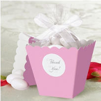Light Pink Popcorn Box Wedding Favor Kit 50ct