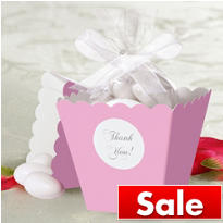 Light Pink Popcorn Box Favor Kit 50ct