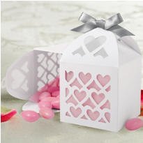 White Paper Lantern Wedding Favor Kit 50ct