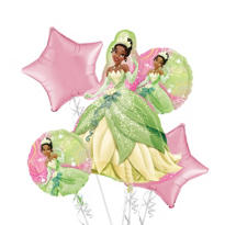 Princess and The Frog Balloon Bouquet 5pc