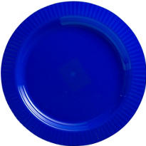 Royal Blue Premium Plastic Dinner Plates 16ct
