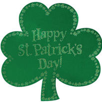 Glitter St. Patricks Day Shamrock Cutout 16in