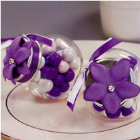 Lavender Rhinestone Flower Wedding Favor Accessory