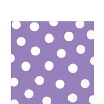 Lilac Polka Dot Lunch Napkins 6 1/2in 36ct