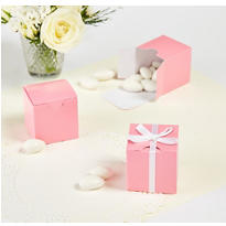Light Pink Wedding Favor Boxes 100ct