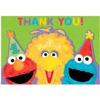 Sesame Street 1st Birthday Thank You Notes 20ct