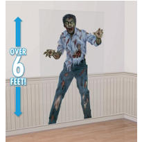 Zombie Photo Backdrop 72in