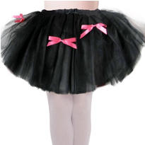 Girls Black Kitty Tutu