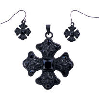 Equal Sided Cross Pendant Set