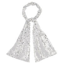 White & Silver Sequin Scarf