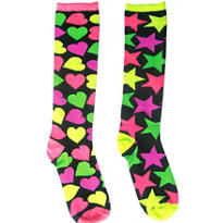 Mismatch Punk Knee High Socks