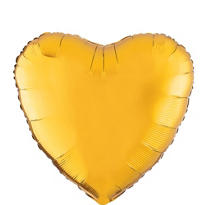 Foil Gold Heart Balloon 18in