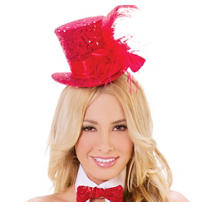 Red Sequin Top Hat