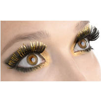 Elegant Gold False Eyelashes