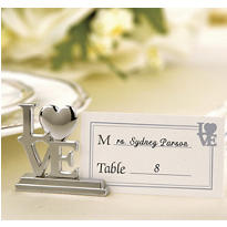 Square Love Place Card Holder Wedding Favor 4ct