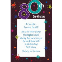 The Party Continues 80 Custom Invitation