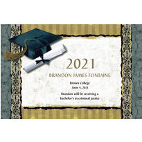 Golden Grad Custom Graduation Announcement