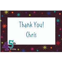 The Party Continues 45 Custom Thank You Note