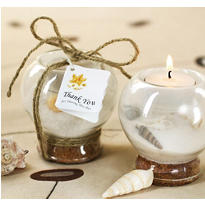 Sand & Shell Tea Light Holder Wedding Favor
