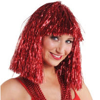 Tinsel Red Wig