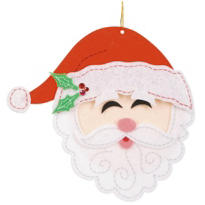 3D Felt Santa Sticker 5 3/4in