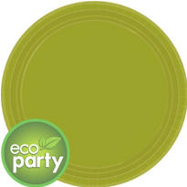 Eco Friendly Avocado Round Paper Lunch Plates 9in 24ct